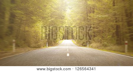 Road Asphalt Destination Distance Travel Summer Concept
