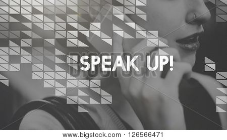 Speak Voice Out Express Yourself Concept
