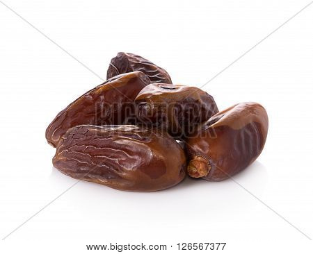 Closeup date palm isolated on white background