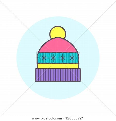 Winter cap icon. One of vector icon set.