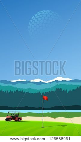 Golf Hole Vertical Background