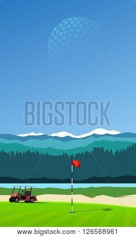 Golf Hole Vertical Background