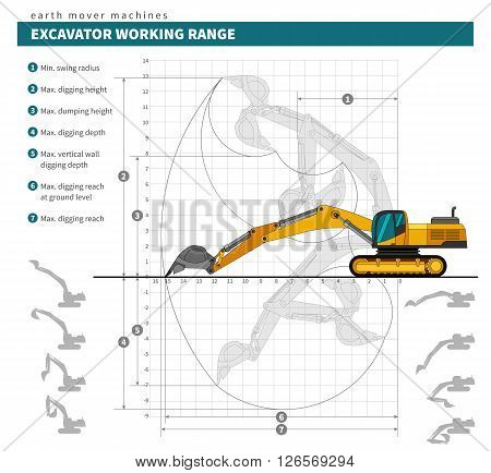 Excavator For Earthwork Operations Blueprint