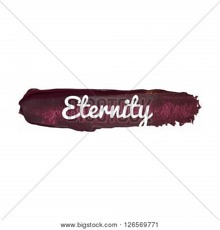 Eternity Vector Word Hand Drawn Illustration Icon Card Isolated