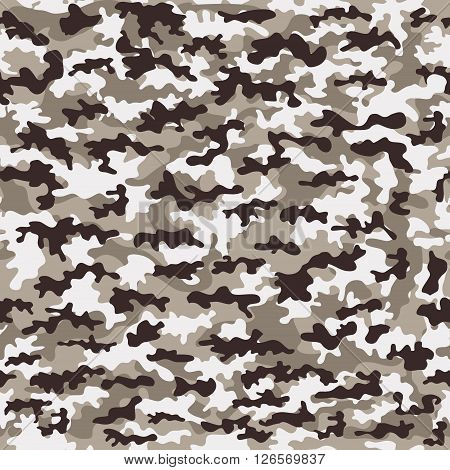 Seamless camouflage military cloth of infantry. Abstract background. Vector illustration, EPS10