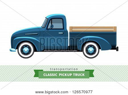 Classic Pickup Truck Side View
