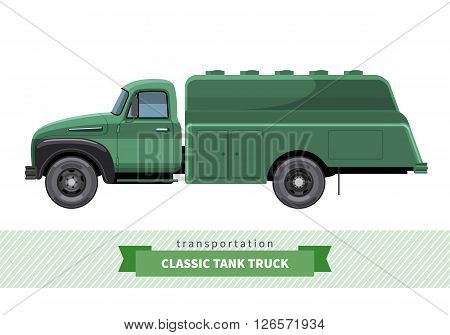 Classic Tank Truck Side View