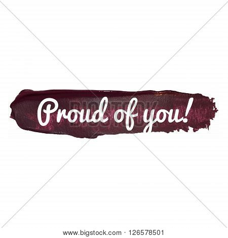 Well Done Vector Word Hand Drawn Illustration Card Isolated Quote