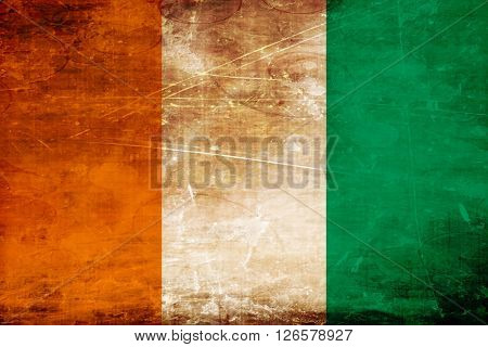 Ivory coast flag with some soft highlights and folds