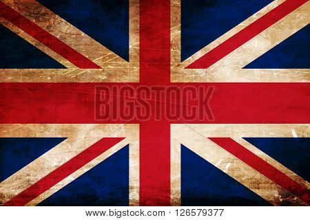 Great britain flag with some soft highlights and folds