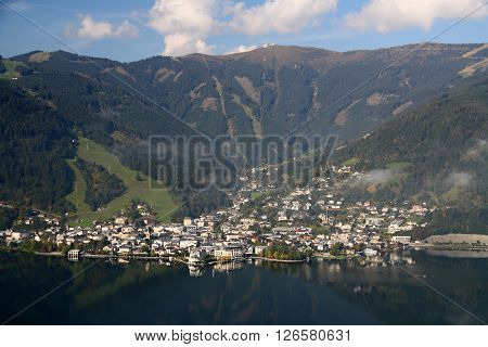 Center of the apline city Zell am See