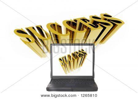 Laptop mit Erfolg