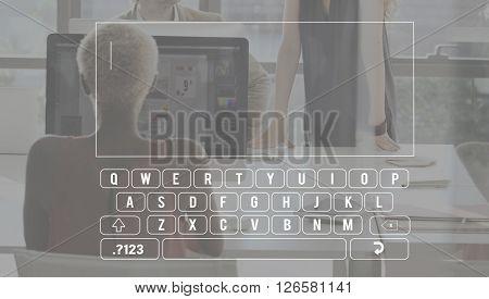 Type Button Computer Data Input Keyboard Concept