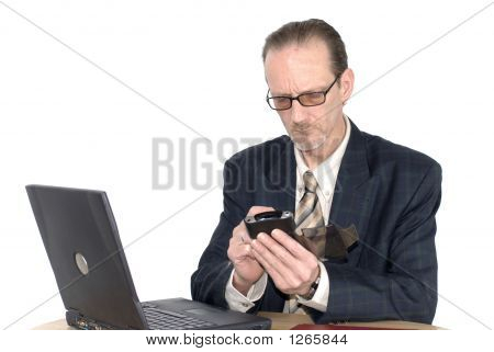 Businessman Working Pda