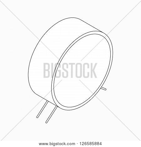 Big bass drum icon in isometric 3d style isolated on white background