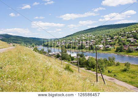 Rural Summer Landscape On The River