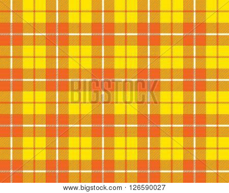 orange yellow tartan fabric texture pattern seamless vector illustration