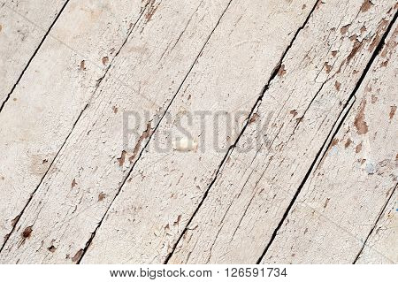 Weathered white painted wood panels