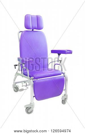 Red chair for injection