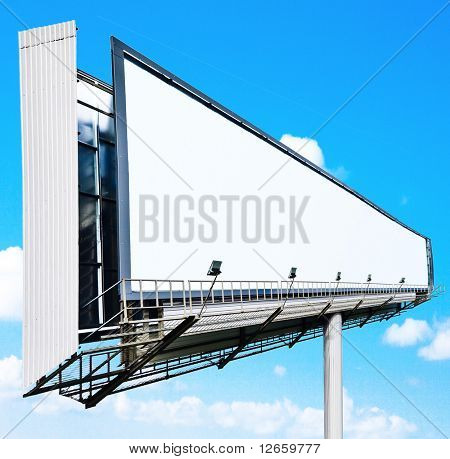 Giant billboard shot at wide angle
