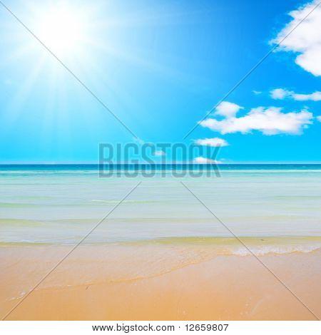 Placid beach
