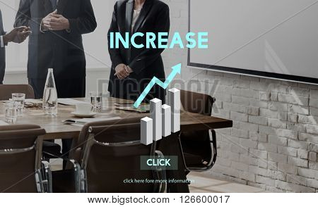 Increase Growth Rise Elevation Enlarge Expansion Concept
