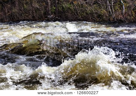 Rapid Waters Of  River Strong