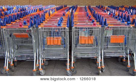 Baskets. Trolleys. Carts For Shopping
