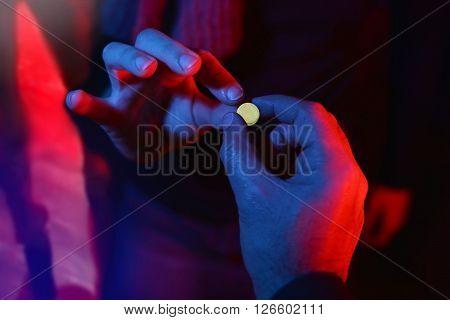teenager buying drug during spring break party