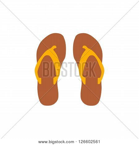 Beach slippers icon vector illustration Beach slippers icon isolated. Beach slippers summer symbol. Beach slippers for traveling design. Summer time vacation Beach slippers icon isolated