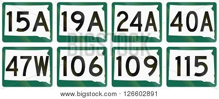 Collection Of South Dakota Route Shields Used In The United States