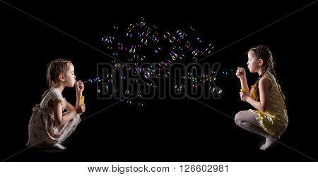 Little Girl And Soap Bubbles