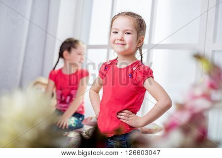 Beautiful Little Girls Smiling