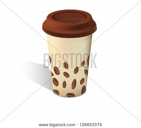 Coffee cup with silicone cover for your design