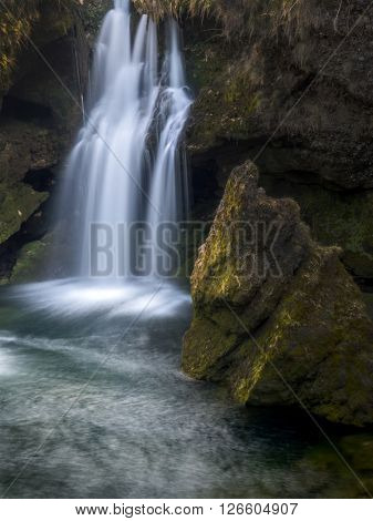 waterfall. flowing water
