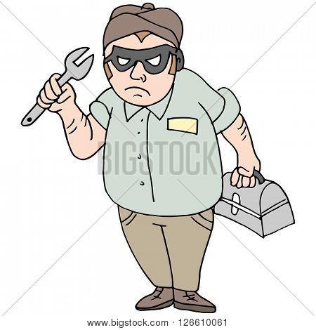 An image of a handyman thief mechanic.