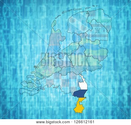 Limburg On Map Of Provinces Of Netherlands