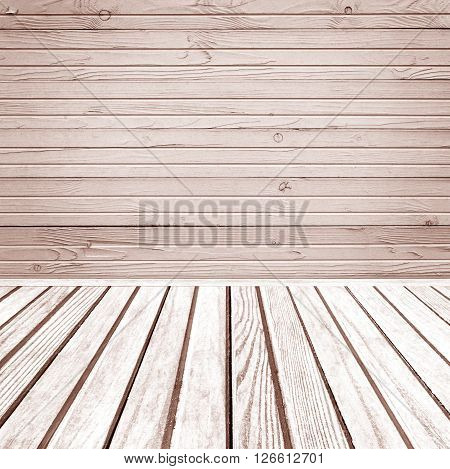Old wooden room interior grey empty background with space for your text or design