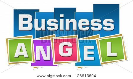 Business angel concept image with text and related symbol.