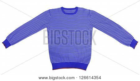 T-shirt - Dark Blue And White Striped