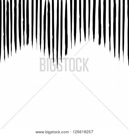 pattern vector with careless strokes and vertical lines. Abstract background with strokes. Black and white hand drawn texture. Postcard banner poster card flyer poster.