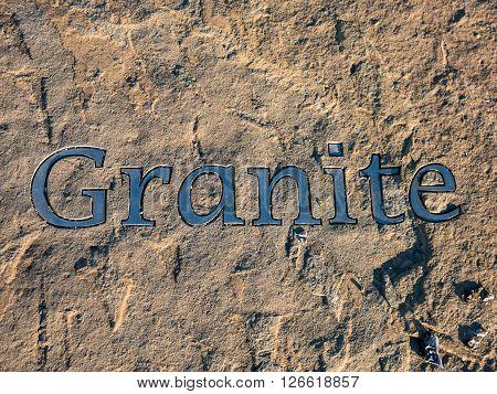 Granite design on sandstone pavement in Aberdeen, Scotland