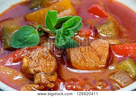 Goulash In A Cocotte With Marjoram Macro