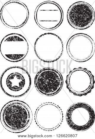 Big Set Of Grunge Templates For Rubber Stamps