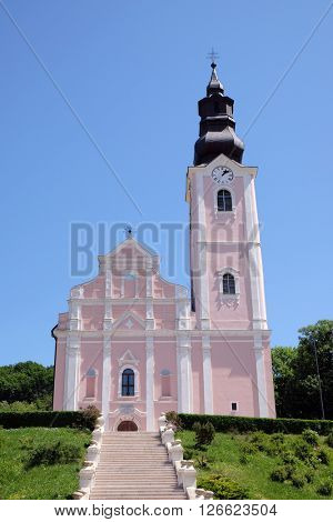 PAKRAC, CROATIA - MAY 07: Church of the Assumption of the Blessed Virgin Mary in Pakrac, Croatia on May 07, 2015