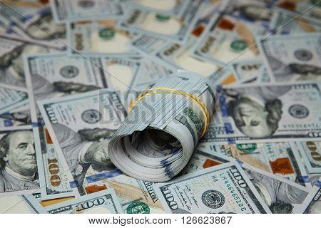 Texture Spilling Hundred Dollar Bills