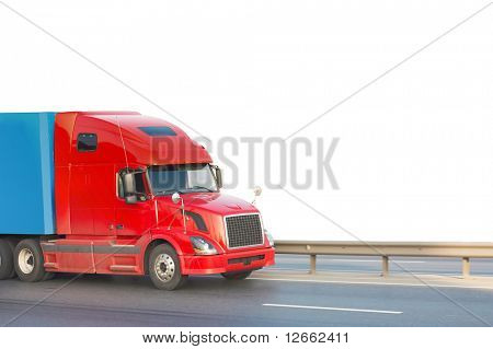 Red american truck