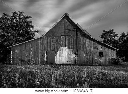 Oklahoma Country Farm Barn On Prairie in Yukon