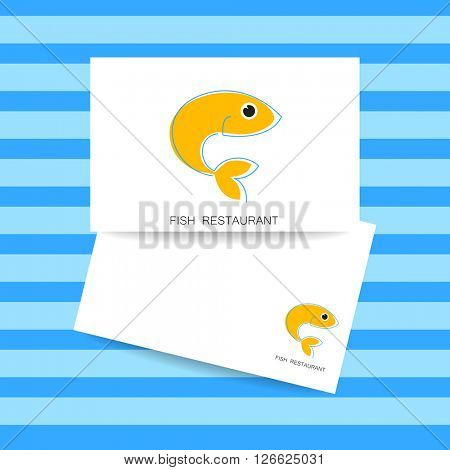 Seafood identity. Template for branding identity, fish restaurant, menu card, invitations, seafood restaurant, restaurant menu. Concept design. Vector illustration.
