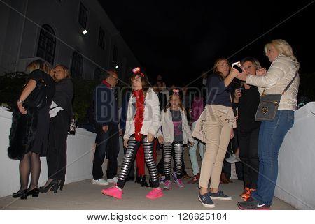 ANKARA/TURKEY-SEPTEMBER 26, 2014: Guests at the garden of British Embassy Ankara during the